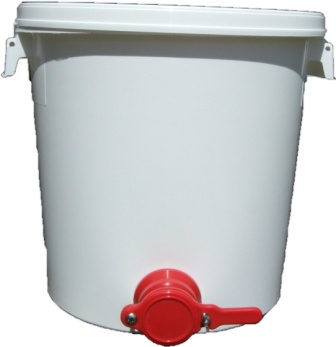 26 litre honey bucket with honey valve